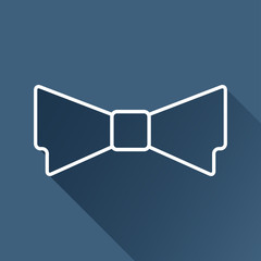 Vector outline flat bow-tie icon isolated . Eps10