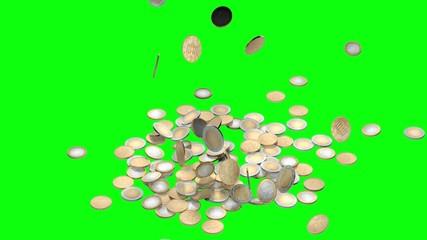 monete in caduta