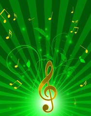 音楽とフラワーアレンジ