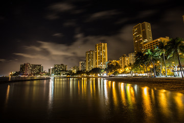 Waikiki Night in Hawaii