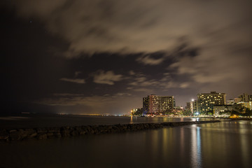 Waikiki Night in Hawaii