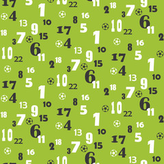 Seamless pattern of Numbers & Balls
