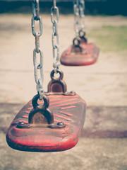 Empty outdoor kid playground equipment at public playground