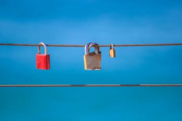 Love locks on sling
