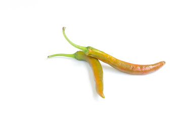 chili pepper isolated on a white background