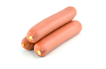 Sausages isolated on a white background