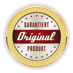 Roter Original Garantiert Siegel Mit Gold Rand