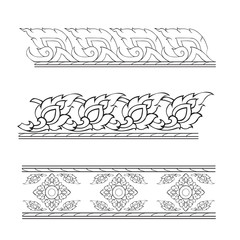 Vector illustration traditional thai art pattern