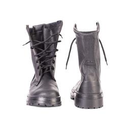 Black man's boots.