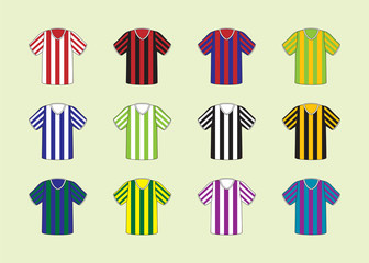 Football,soccer stripe jersey set