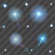 Zdjęcia na płótnie, fototapety, obrazy : Transparent lens flares and sparks. Transparency only in vector