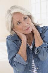 Douleurs, Cervicales, Senior Femme