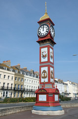 Jubilee clock tower on seafront, Weymouth, Dorset