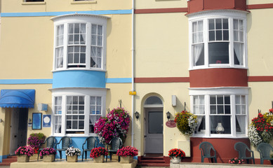 Accommodation on seafront, Weymouth, Dorset