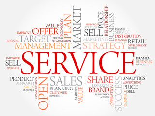 SERVICE word cloud, business concept