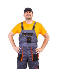 Worker in workwear.