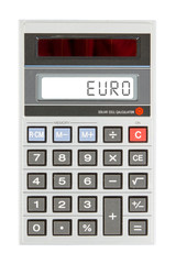 Old calculator - euro