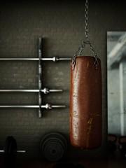 Boxsack im Fitnessraum