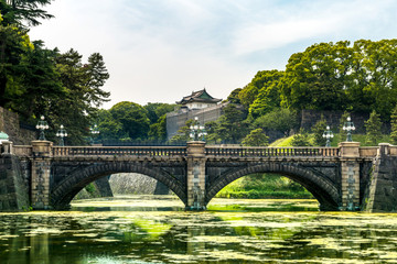 Doubled bridge at Tokyo Imperial Palace