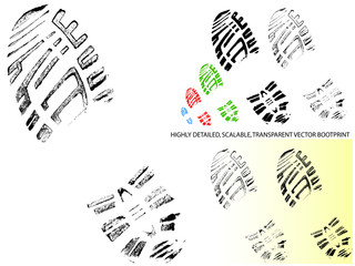 Vector Bootprint - Highly detailed and transparent