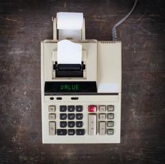 Old calculator - value