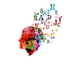 Colorful human head design