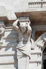 Granite man statue