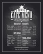 Chalkboard cafe menu list design with dishes name. - 81700029