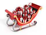Santa's sleigh full of presents