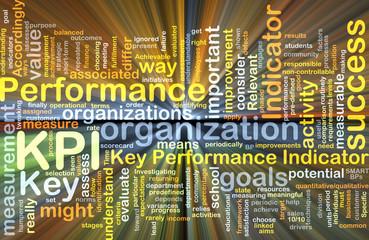 KPI wordcloud concept illustration glowing