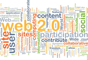 web 2.0 wordcloud concept illustration