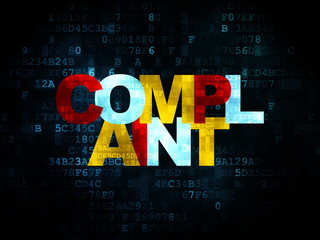 Law concept: Complaint on Digital background