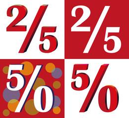 twenty-five and fifty percent