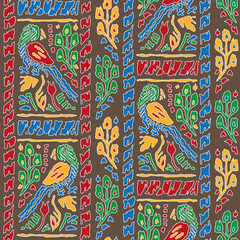 Seamless background with Parrot Pattern
