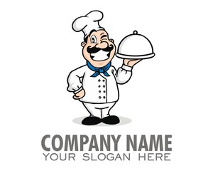 cook chef logo image vector