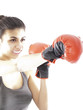 girl training boxing