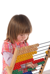 Cute baby with abacus