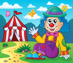 Sitting clown theme image 4