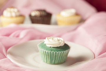 Mint flavour cup cake