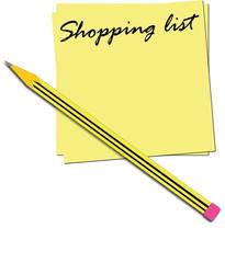 illustrazione lista della spesa