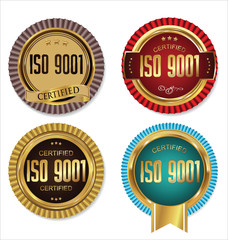 ISO 9001 certified golden badge collection