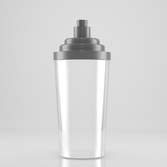 Glass Shaker with Silver coloured top