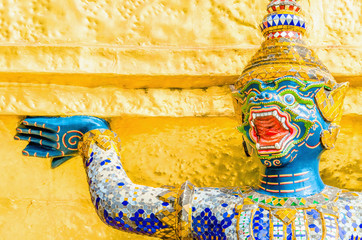 Warrior at the Emerald Buddha Temple (Wat Phra Kaew) Bangkok