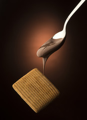 spoon with chocolate