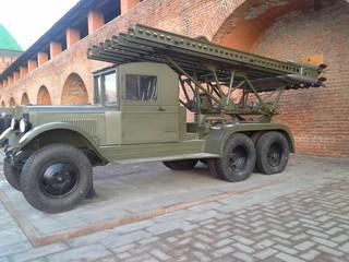 """БМ-13. Гвардейский реактивный миномет """"Катюша""""."""
