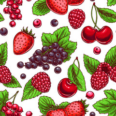 background with ripe berries