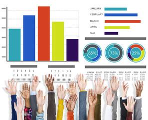 Diversity Hands Marketing Strategy Support Volunteer Concept