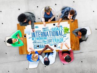 International World Global Network Globalisation Concept