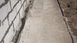 Leinwanddruck Bild - Foundation waterproofing, vapor barrier.