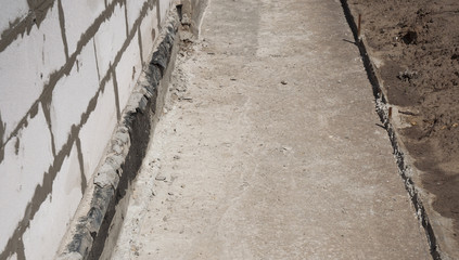 Foundation waterproofing, vapor barrier.